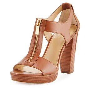 Michael Kors Berkley Zip up Platform heels